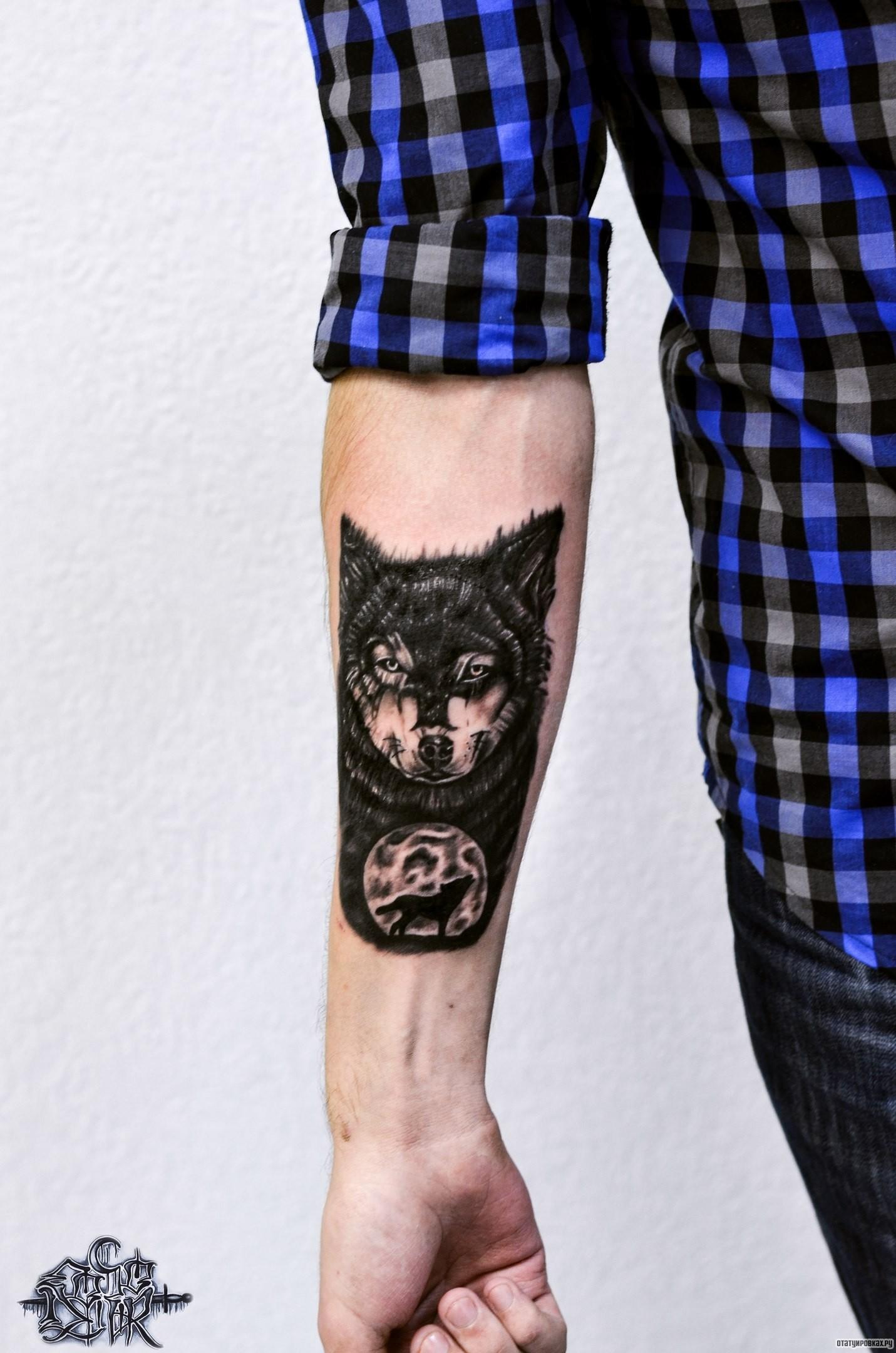 Черный волк воет на луну, добавлено: Евгений Согор