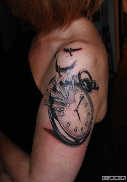 могут тату часы и птицы фото съедобный домик