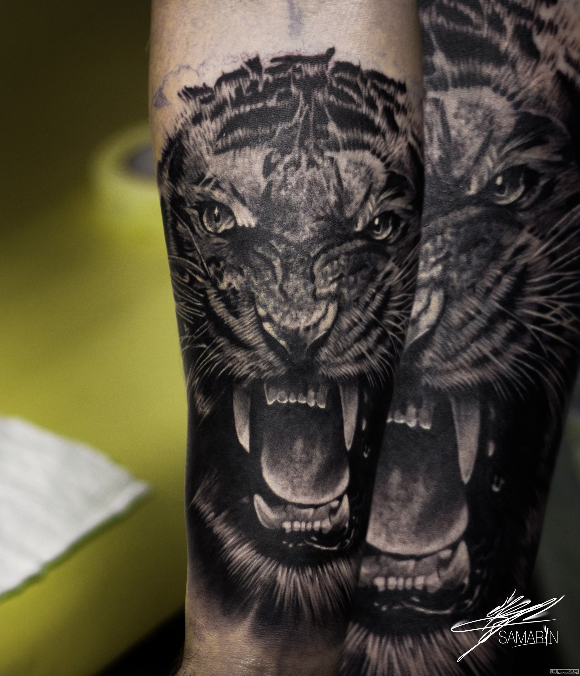Trend тату джоли тигр